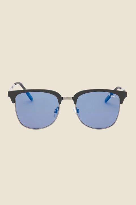 QUAY Evasive Matte Black/Blue Mirror