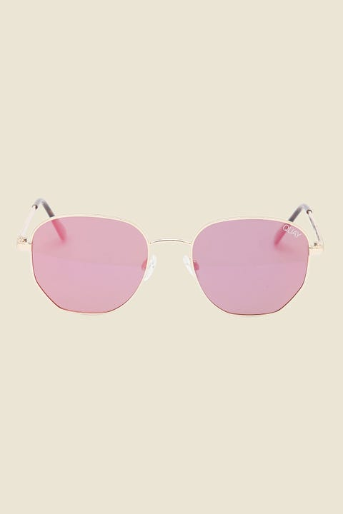 Quay Big Time Gold/Pink Mirror
