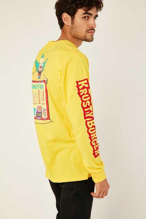 Vans Vans X Simpsons Krusty LS Tee Yellow
