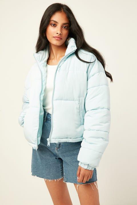 LUCK & TROUBLE Kiki Puffer Jacket Blue