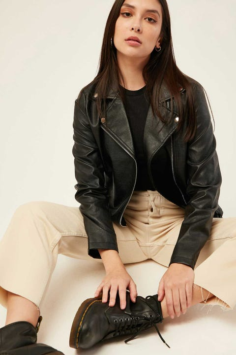 LUCK & TROUBLE Down Town Biker Jacket Black