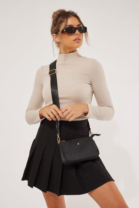 Luck & Trouble Springbreak Mini Skirt Black