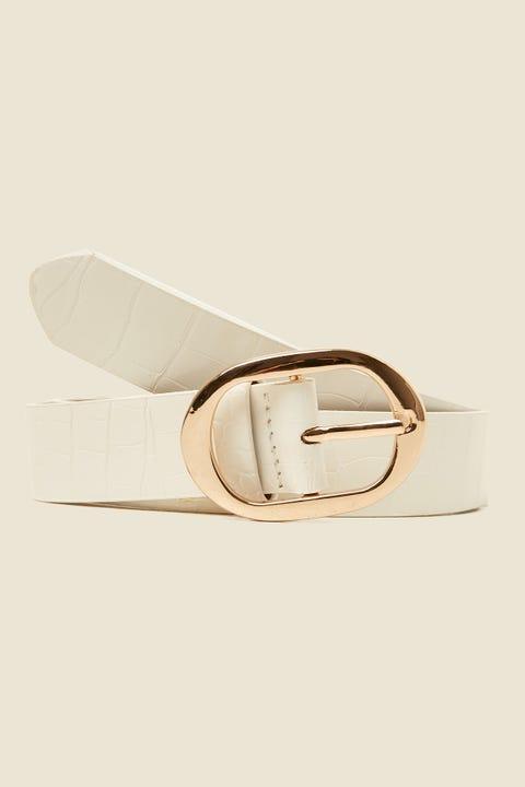 Token Elliptic Croc Belt White