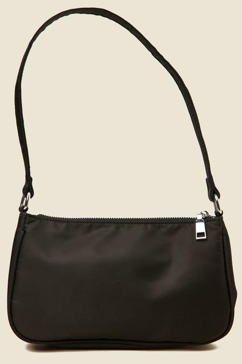 TOKEN 90's Nylon Shoulder Bag Black