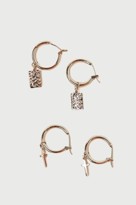 Token Charmed Hoop Earring Pack Silver