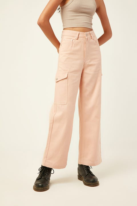 LUCK & TROUBLE Illusion Contrast Pant Pink