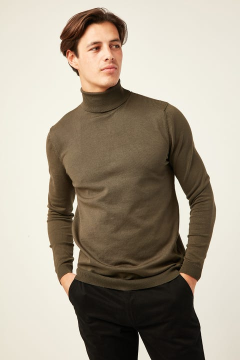 Common Need Theodore Turtleneck Olive