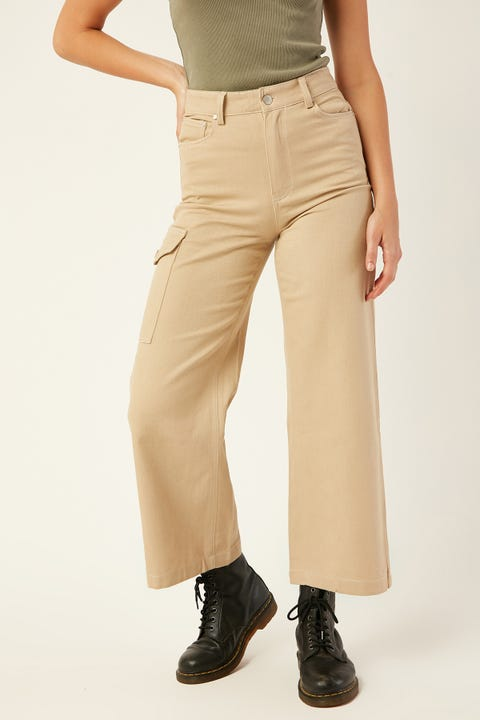 LUCK & TROUBLE Illusion Contrast Pant Sand