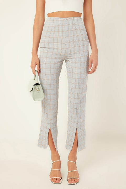 PERFECT STRANGER Candy Check Pant Blue Print