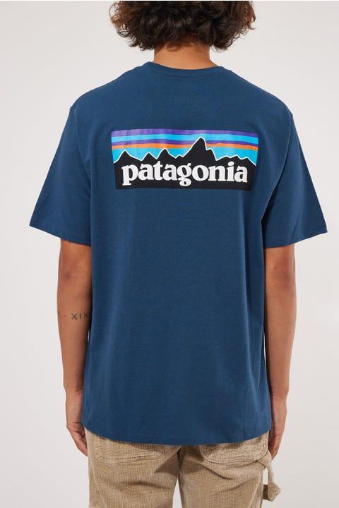 Patagonia M's P-6 Logo Responsibili Tee Crater Blue