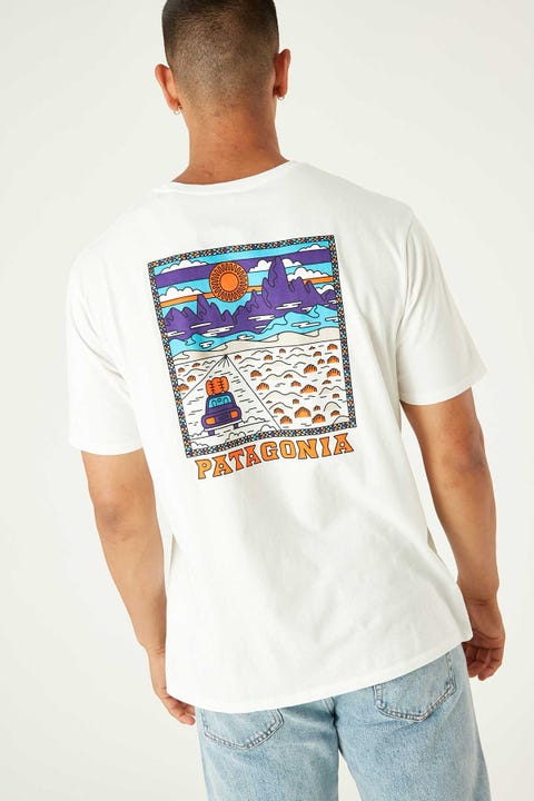 Patagonia M's Summit Road Organic T-Shirt White