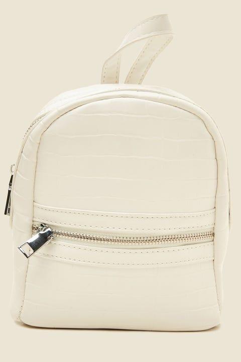 Token Mini Croc Backpack White