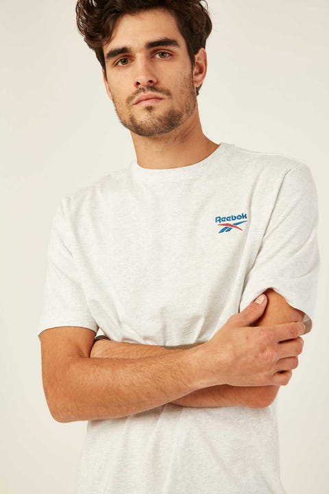 Reebok CL F Small Vector Tee White Melange