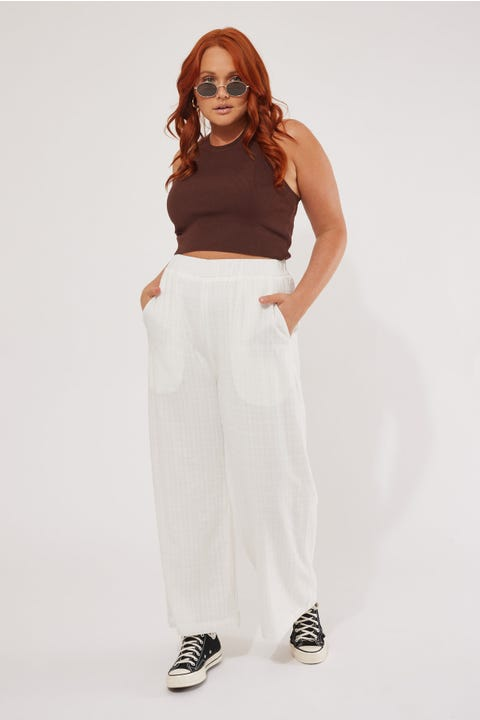 Perfect Stranger Beach Pant Cream