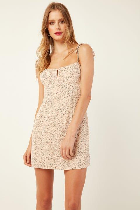 PERFECT STRANGER Tuscan Dream Mini Dress White Print