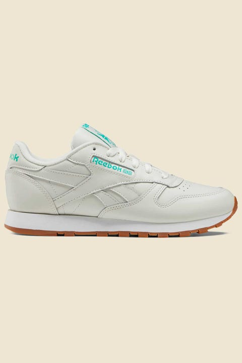 Reebok Womens Classic Leather Chalk/Court Green/White