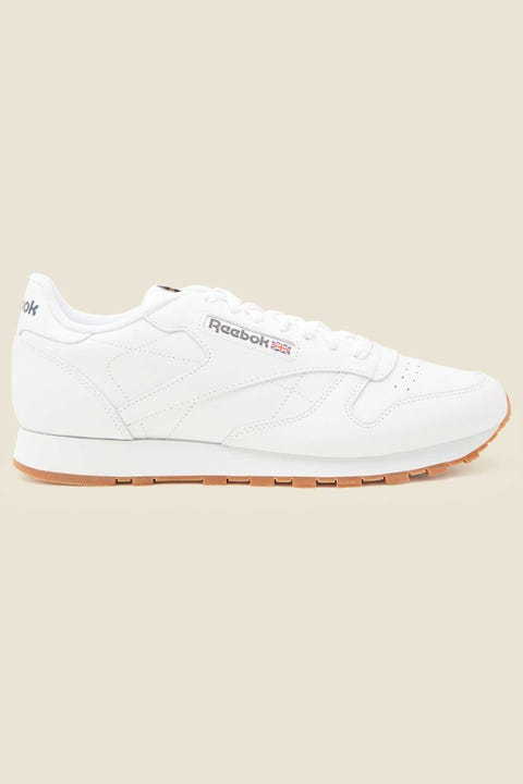 Reebok Mens CL Leather White/Gum