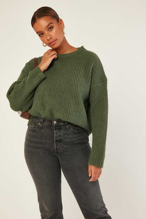 Perfect Stranger Larsen Chunky Knit Khaki
