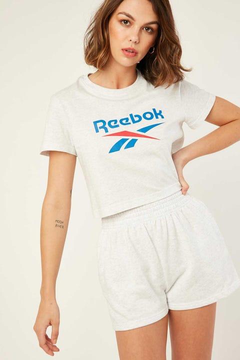 Reebok Big Logo Tee White Melange