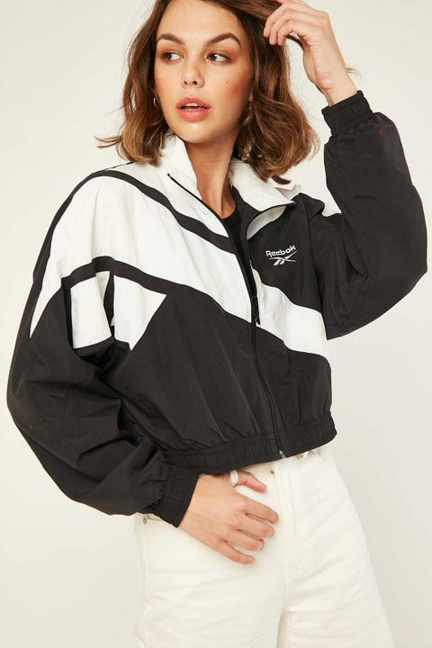Reebok Cropped Vector Jacket Black/White/Black