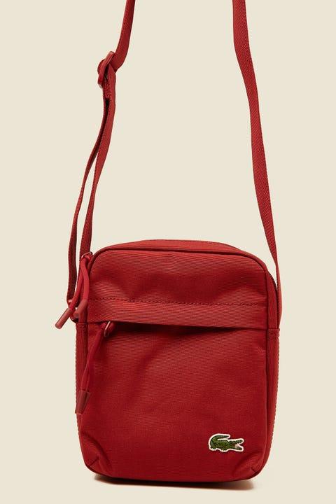 LACOSTE Neocroc Vertical Camera Bag Red Dahlia