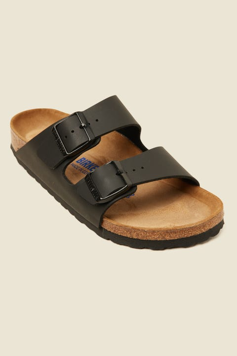 BIRKENSTOCK Womens Arizona Birko-Flor Soft Foot Bed Narrow Black