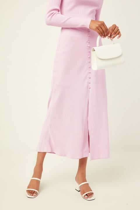 LUCK & TROUBLE Destiny Midi Skirt Pink
