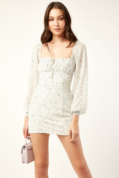 PERFECT STRANGER Nena Mini Dress White Print