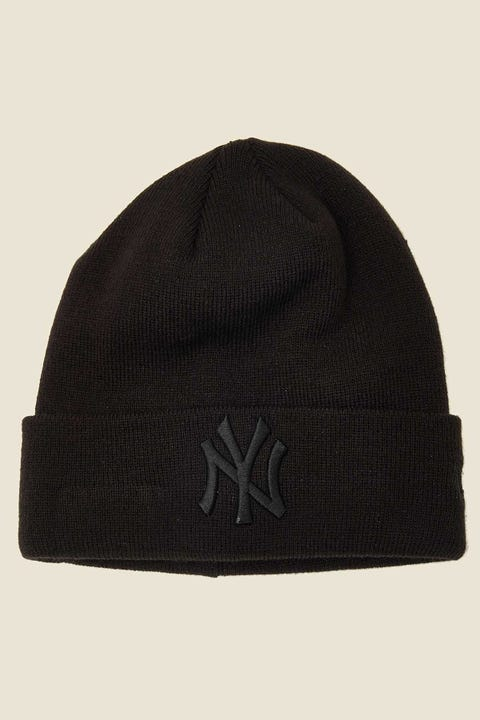 NEW ERA 6Dart Knit NY Yankees Beanie Black/Black