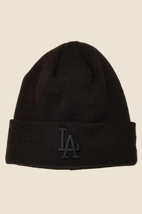 New Era 6Dart Knit LA Dodgers Beanie Black/Black