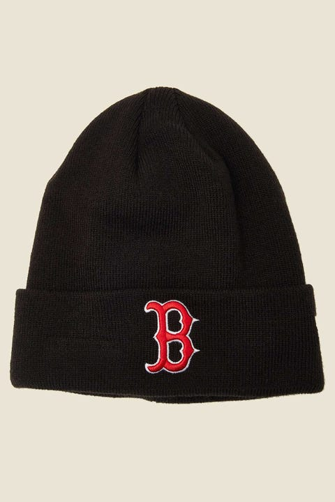 NEW ERA 6Dart Knit Boston Red Sox Beanie Black/Red