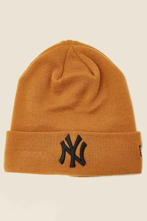 New Era 6Dart Knit NY Yankees Beanie Wheat/Black