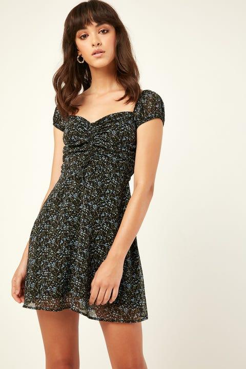 LUCK & TROUBLE Dazed Dress Black Print