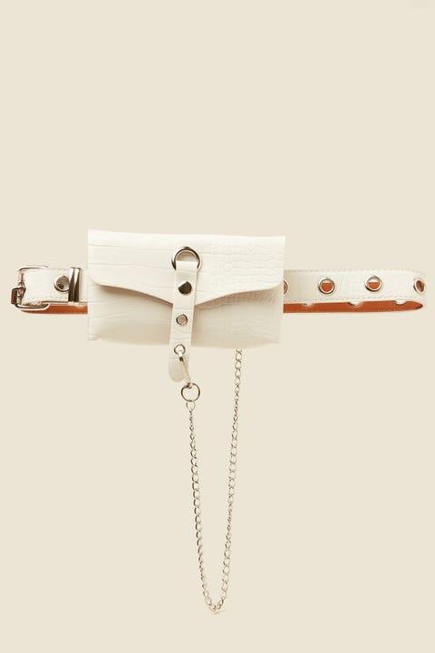 Token Boom Belt Bag White Croc