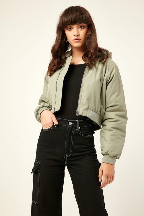 LUCK & TROUBLE Denver Puffer Jacket Khaki