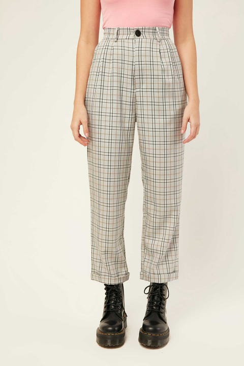LUCK & TROUBLE On The Edge Pant Grey Print