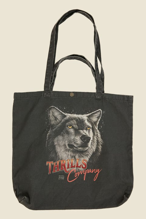 THRILLS Wolf Pack Tote Merch Black