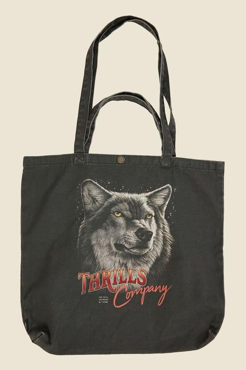 Thrills Wolf Pack Tote Merch Black