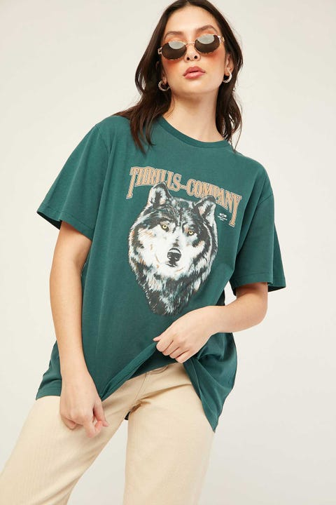 THRILLS Wolf Merch Tee Washed Teal
