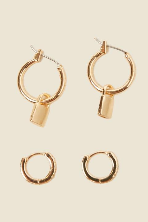 TOKEN Locked Up Hoop Earring Gold