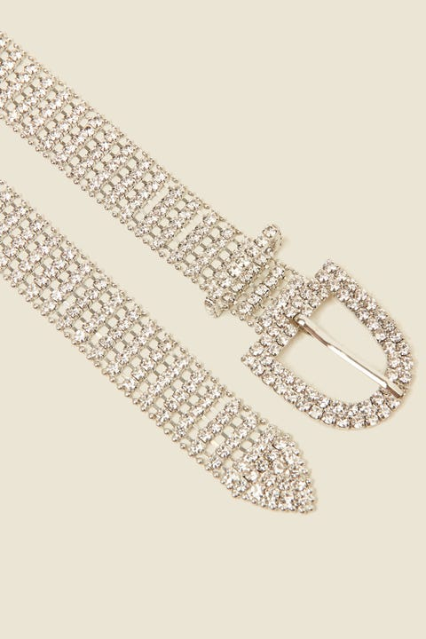 Token Diamante Belt Silver