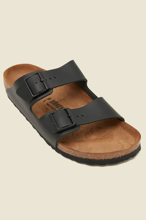 BIRKENSTOCK Mens Arizona Narrow Black Smooth