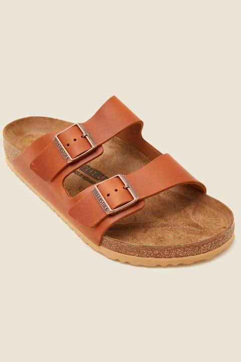 BIRKENSTOCK Mens Arizona Antique Pull Up Cognac