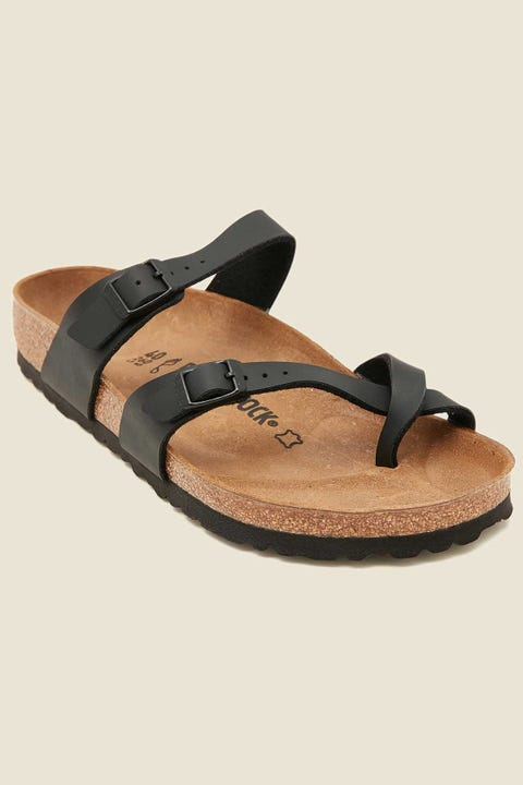 BIRKENSTOCK Womens Mayari Birko-Flor Regular Black