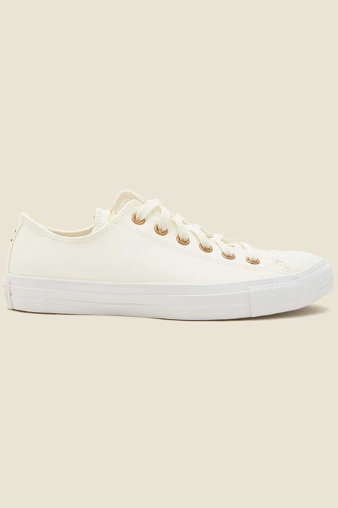 CONVERSE Womens CT All Star Ox Egret/Gold/White