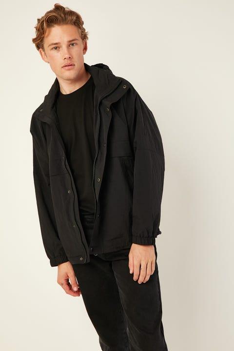 COMMON NEED Alpine Oversized Spray Jacket Black