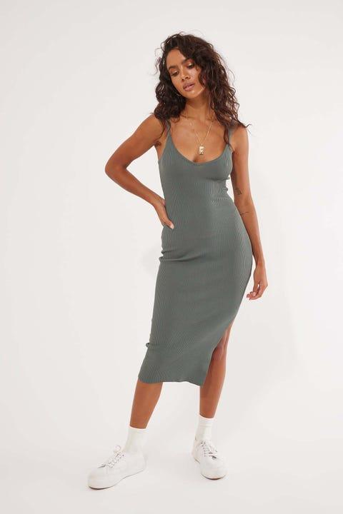 Perfect Stranger Chicago Midi Dress Sage