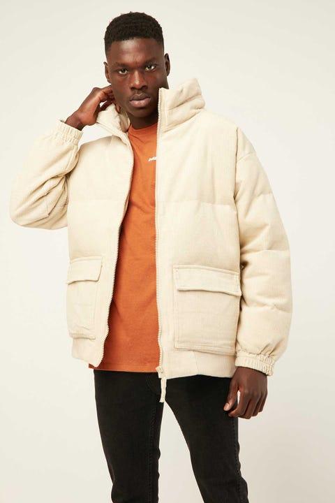 COMMON NEED Everest Cord Puffer Jacket Bone