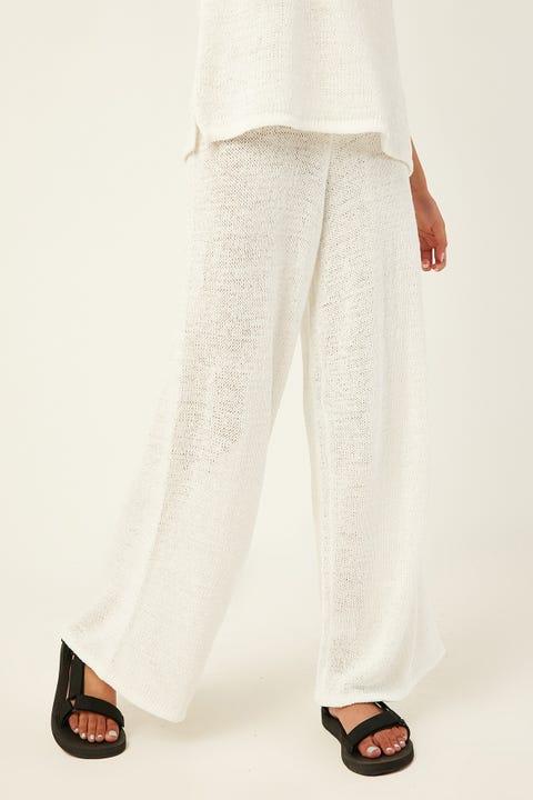 PERFECT STRANGER Rewind Knit Pant Cream