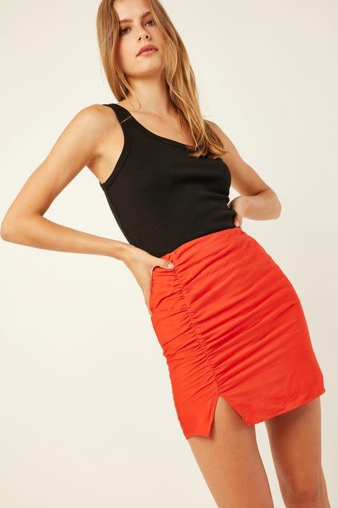 Perfect Stranger Show Me Love Skirt Red